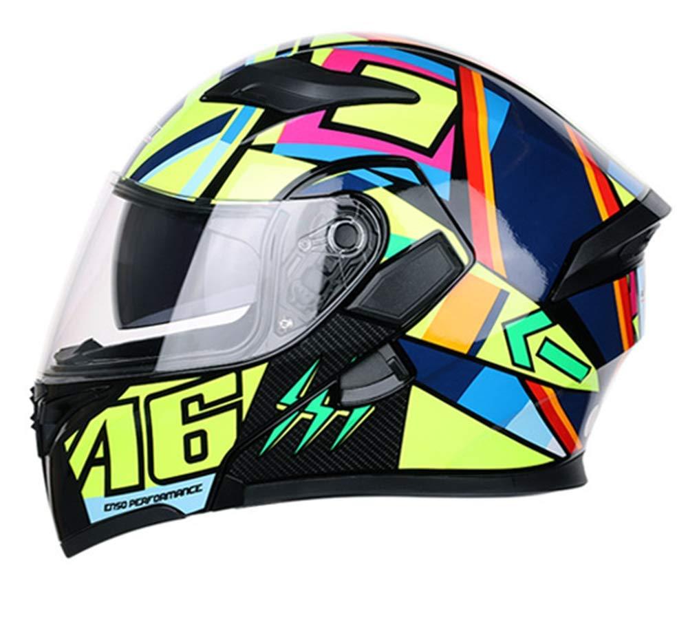 WWTOP TOPXP Motorbike Helmet Antifogging Dual Lens Full Face Safety Cap Flip Up Helmets Adult Motorcross Helmet Motorcycle