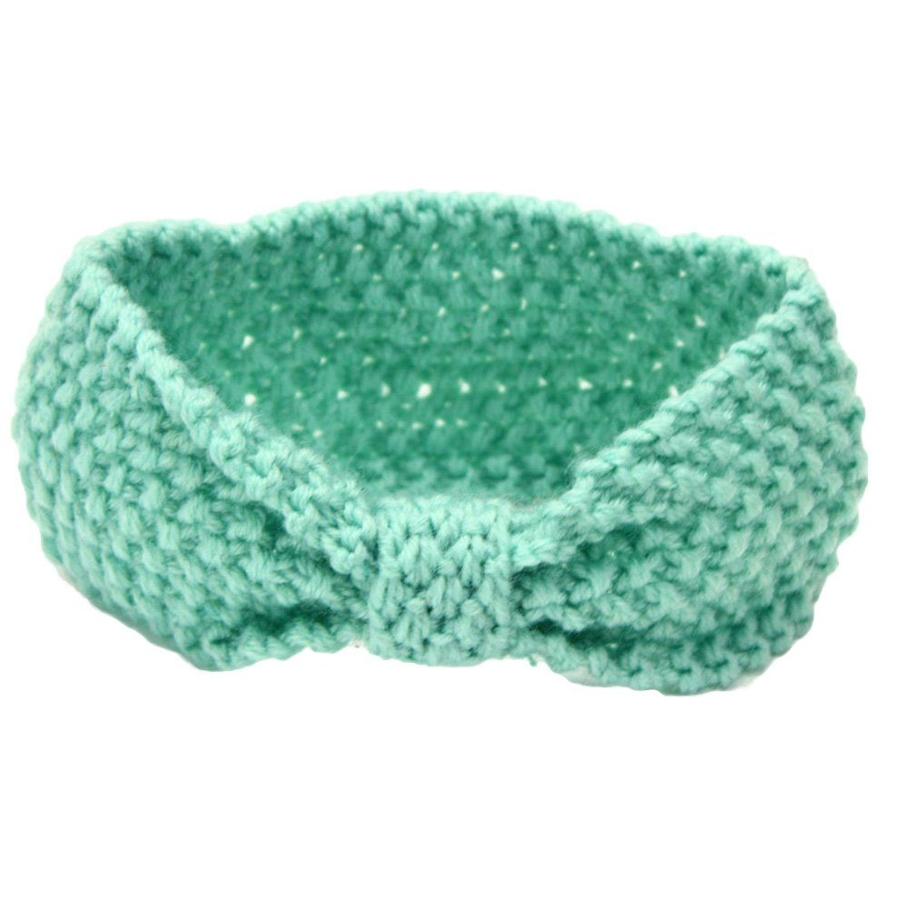 Tangbasi Crochet Knitted Baby Girls Headbands Infant Headdress Elastic Bowknot Hairband