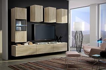 homedirectltd – Future 4 – Moderne Wohnwand-Spiel – Möbel Wohnzimmer ...