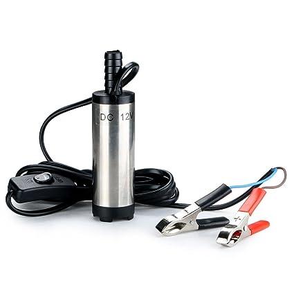 renxinu aceite Agua Bomba Coche 12 V 38 mm de diámetro Mini ...