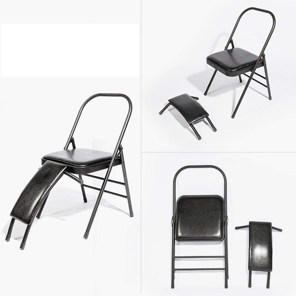 Folding chair Yoga Stool Training Aids Movement Black 4648.580cm MUMUJIN