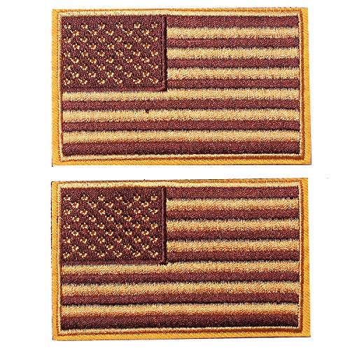 American Flag Embroidered Patch Gold Bottom USA United States of America Military Uniform