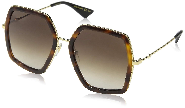Gucci GG0106S 002 Gafas de sol, Marrón (Avana/Brown), 56 para Mujer