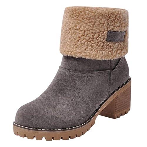 QUICKLYLY Botas de Nieve Mujer,Botines para Adulto,Zapatos ...