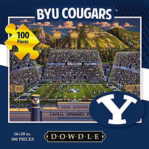 Jigsaw Puzzle - Brigham Young University Cougars-BYU-100 Pc By Dowdle Folk Art