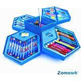 Zomaark® Colors Box Color Pencil,Crayons, Water Color, Sketch Pens Set of 46 Pieces (Color & Design May Vary)