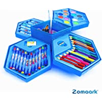 Zomaark® Colors Box Color Pencil,Crayons, Water Color, Sketch Pens Set of 46 Pieces