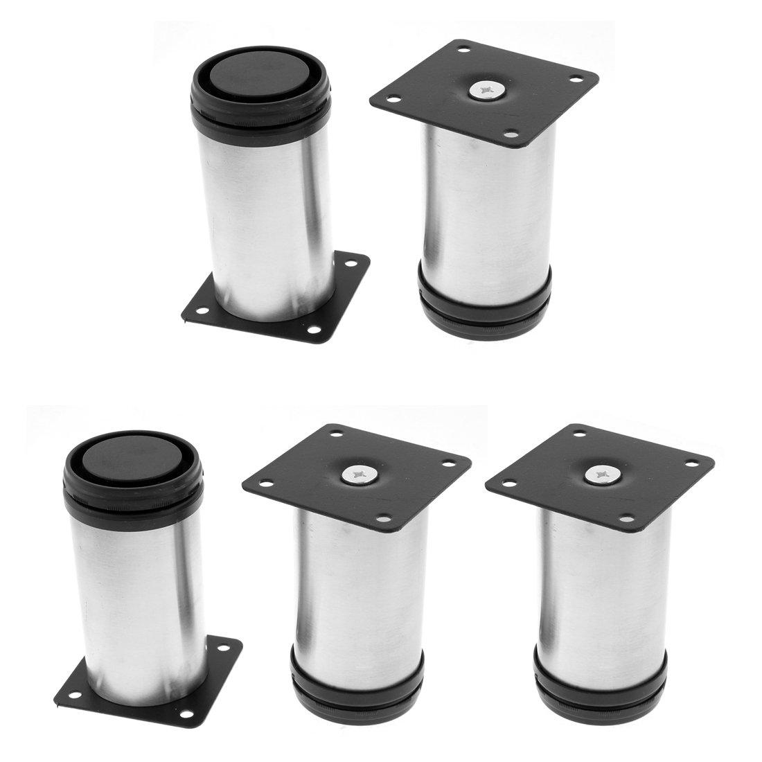 uxcell Furniture Cabinet 50mm x 100mm Cylinder Adjustable Plinth Leg 5pcs