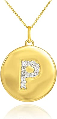 16-20 Mireval 14k Yellow Gold B Key Charm on a 14K Yellow Gold Rope Chain Necklace
