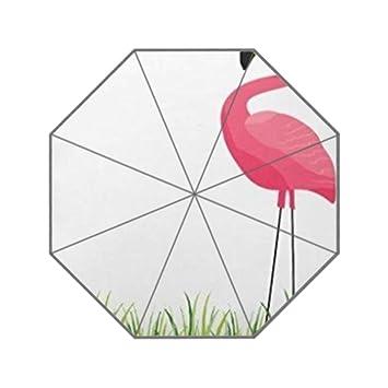 Cubano flamencos ilustración 3 plegable paraguas lluvia sol Anti UV sombrilla