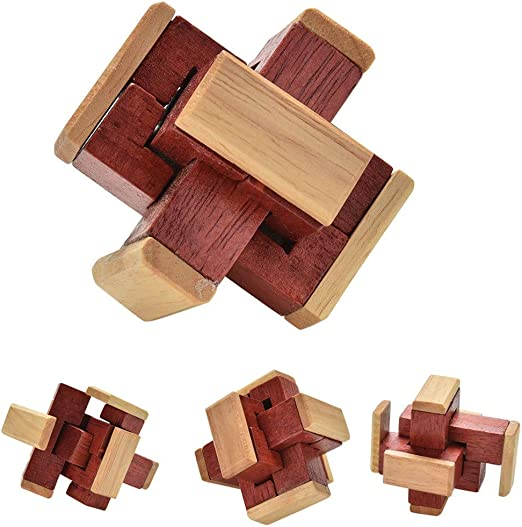 Wooden Box Puzzle Brain Teaser Puzzles Toy IQ Wood Educational Puzzles Kid Gift