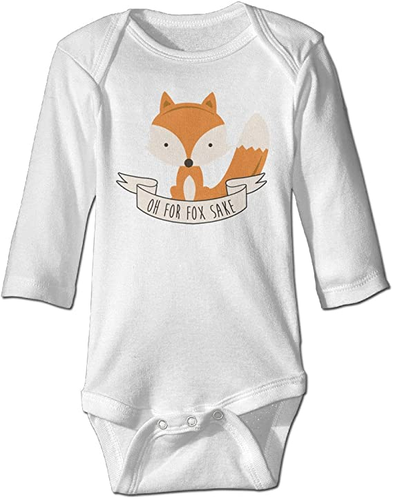 Funny Baby One-Piece Newborn Clothes Baby Snapsuit Oh for Fox Sake Baby Bodysuit Infant Clothes Cute Baby Clothes
