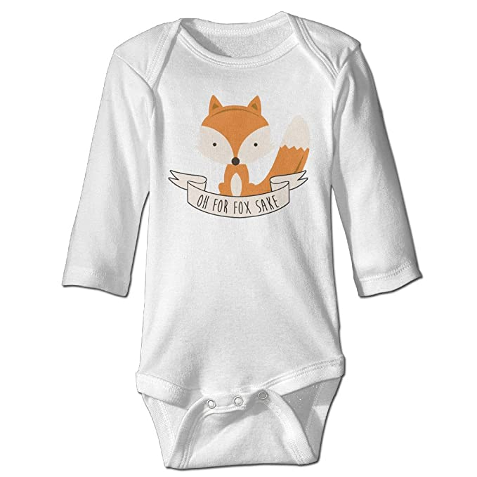 327185617 Funny Vintage Unisex Oh For Fox Sake Climb Clothes Romper Infant Baby's