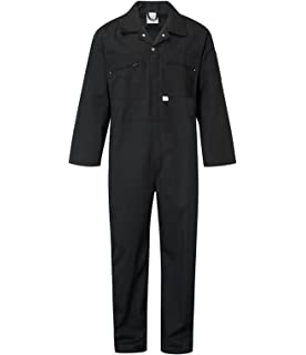 Polycotton Overall Protective Safety Work Wear with Full Stud Closure /& Elasticated Waist Pro-Work //Tough Gear Dungarees Women/'s Boilersuit Coverall Heavy Duty