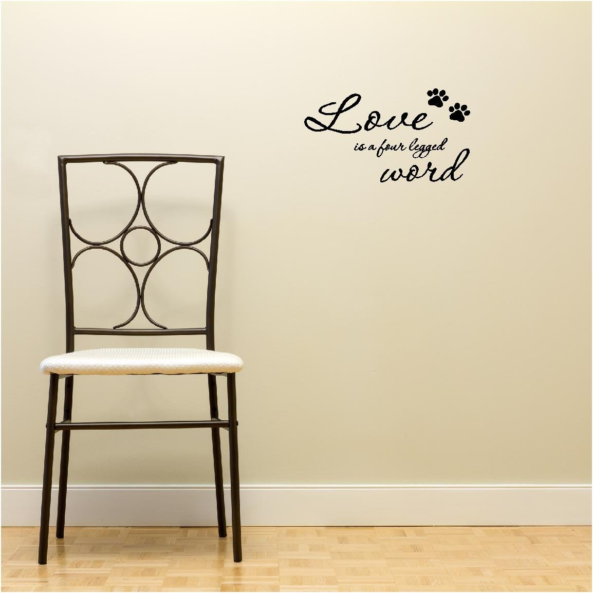 Amazon Love is a four legged word cute pet vinyl wall quotes decals sayings art lettering Home & Kitchen