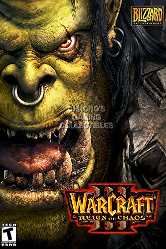CGC Huge Poster - Warcraft III Reign of Chaos BOX ART Poster PC - EXT357 (24