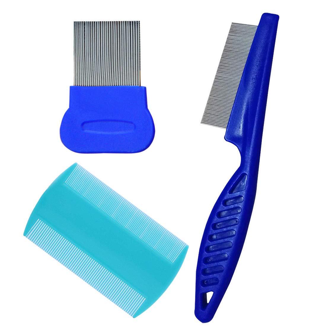 Dog Flea Comb - Comb Loose Hair - Flea Remover for Dogs  Grooming Tick Lice Comb Clean Tool - Flea Remover - 3 Pcs