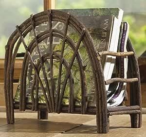 Rustic Twig Magazine Rack