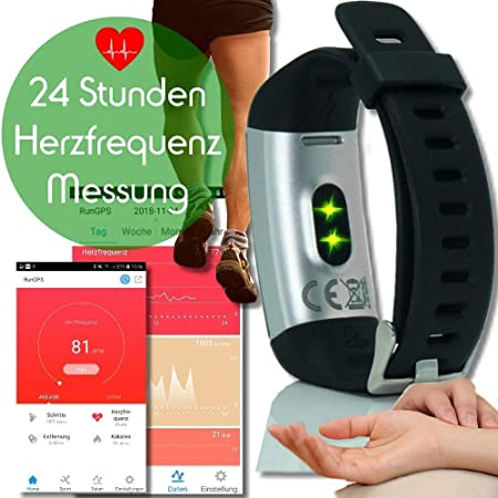 Run-GPS 2019 ritmo cardíaco rastreador de actividad física 24 Deportes polideportivo GPS integrado Impermeable pantalla LCD en color actuación podómetro calorías análisis del sueño Tiempo (negro): Amazon.es: Deportes y aire libre