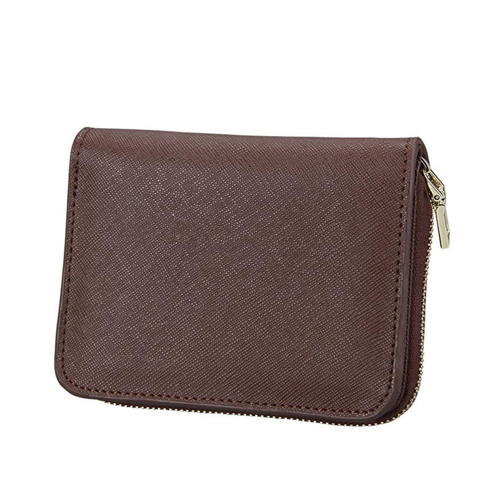 Sturdy New Women's Genuine Leather Zip Around Bifold Wallet Clutch Travel Purse Large Capacity (color   Coffee)
