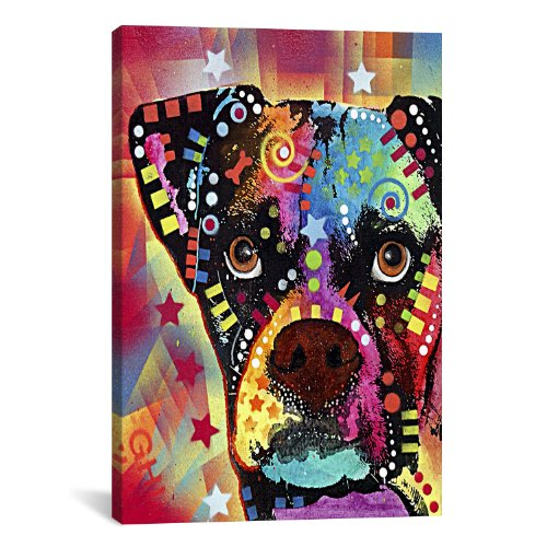 Pop Art Boxer - iCanvasART Boxer Cubism Canvas Art Print by Dean Russo, 18 by 12-Inch