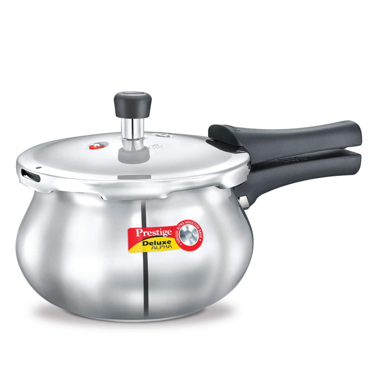 Prestige 2-Liter Deluxe Alpha Induction Base Stainless Steel Baby Handi, Small, Silver