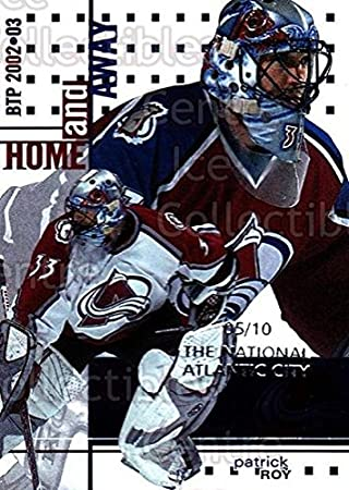Patrick Roy Hockey Card 2002 03 Between The Pipes National Atlantic