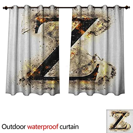 Amazon.com: Letter Z Outdoor Balcony Privacy Curtain ...