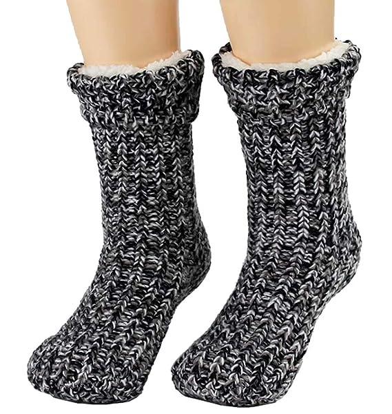 Black Temptation Calcetines gruesos de lana para piso Doble engrosamiento más calcetines de terciopelo, G2: Amazon.es: Ropa y accesorios