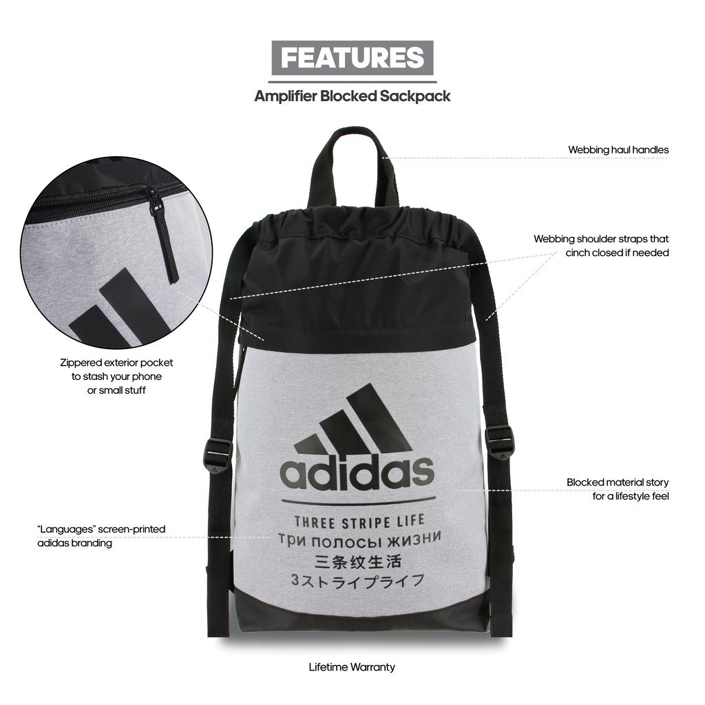 593984fb7bd1 adidas Amplifier Blocked Sackpack  Amazon.in  Sports