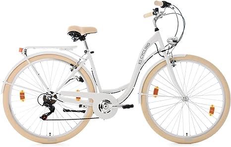 KS Cycling Mujer – Bicicleta para Mujer Balloon Bicicleta, Color Blanco, 28: Amazon.es: Deportes y aire libre