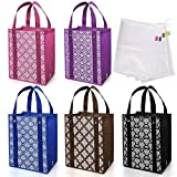 Avery Barn 10pc Damask Reusable Reinforced Grocery Shopping & Produce Bag Set