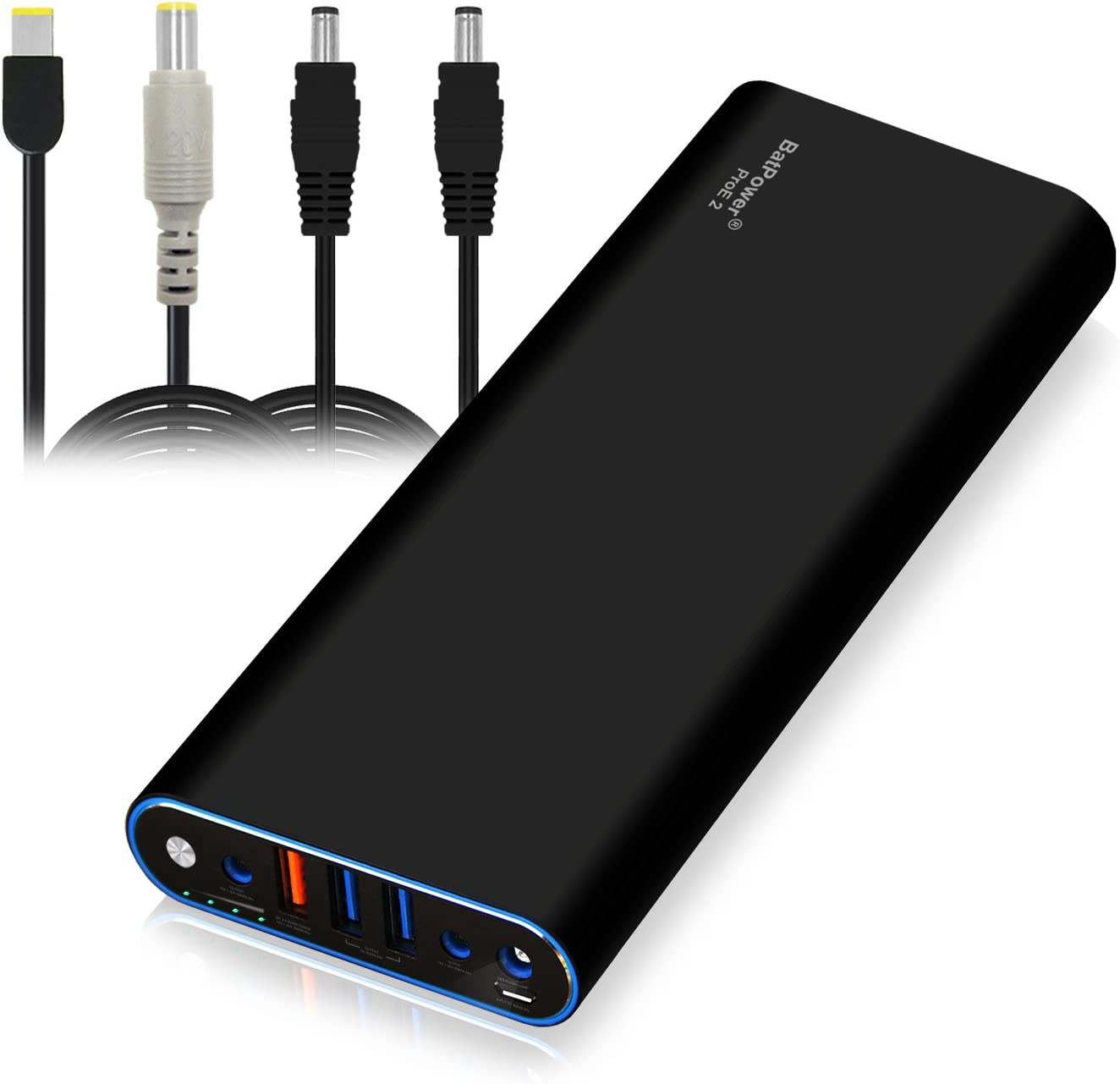 BatPower EX15L 210Wh Laptop Power Bank External Battery for Lenovo ThinkPad Carbon Ultrabook IdeaPad Helix Flex Yoga Notebook (Rectangle or Circular Connector) USB QC Fast Charge Tablet Smartphone