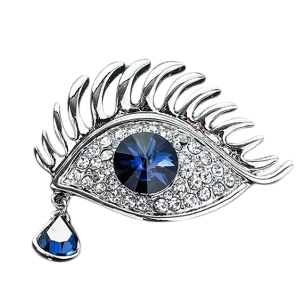 Cdet 1X Vintage Crystal Angel's Tears Brooch Pin Women Corsage Collar Lapel Badge Jewelry Scarves Shawl Clip Lady Jewelry Bag Ornament Men Gift Golden