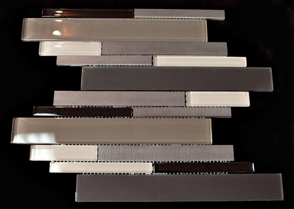 (New)Aluminum + Matt Brown Glass + Beige Glass