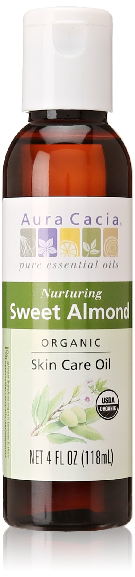 Aura Cacia Organics Skin Care Oil Sweet Almond, 4 Ounce