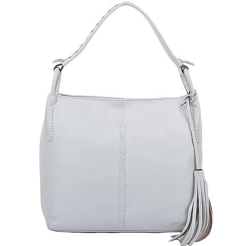 f8fb9cb805 Ashwood Womens Leather Hobo Shoulder Bag Ice   61634 NA  Amazon.co.uk   Shoes   Bags