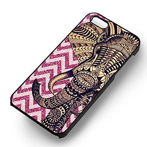 Elephant Pink Glitter pour Coque Iphone 6 et Coque Iphone 6s Case (Noir Boîtier en plastique dur) B6T9KR