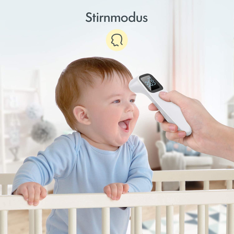 Term/ómetro para adultos con alarma de fiebre y lectura inmediata term/ómetro de offie con infrarrojos digital ni/ños y beb/és sin contacto