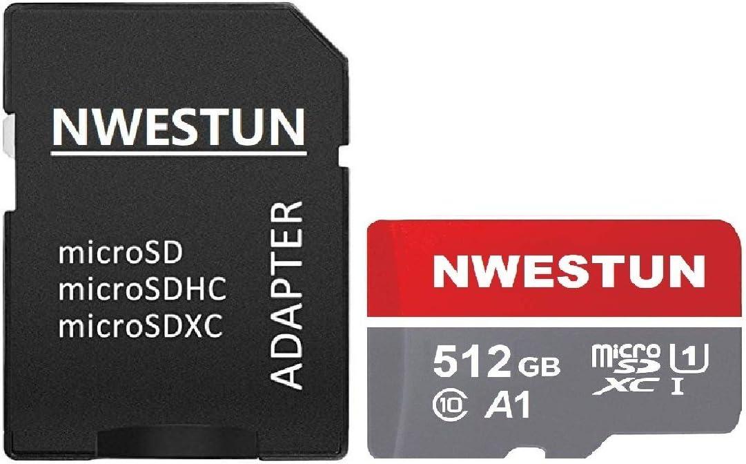 A1 Full HD Available C10 512GB Micro SD Card Memory Card with Adapter U1 Micro SDXC UHS-I Memory Card 512GB LIUQI010 100MB//s