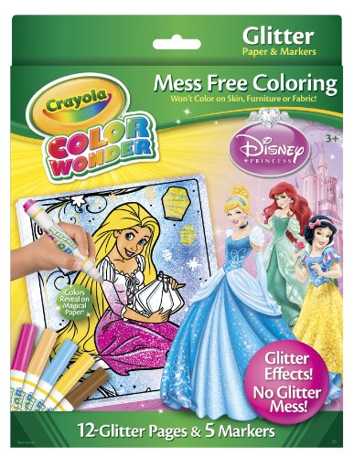 Crayola Color Wonder Disney Princess Glitter Paper and (Crayola Sparkle)