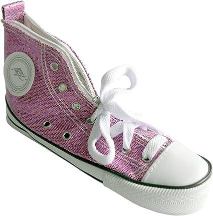 Wedo 2426157902 - Estuche escolar, zapatilla deportiva Sneaker brillante, color rojo: Amazon.es: Oficina y papelería