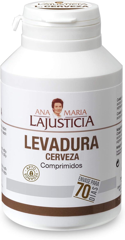 Ana Maria Lajusticia - Levadura de cerveza – 280 comprimidos contribuye a mantener un cabello sano, unas uñas fuertes y una piel tersa. Envase para 70 días de tratamiento.