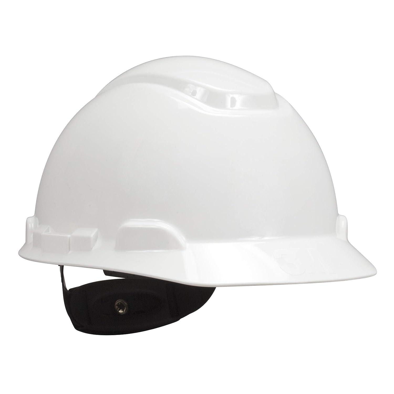 3M Hard Hat, White, Lightweight, Adjustable 4-Point Ratchet, H-701R: Hardhats: Industrial & Scientific