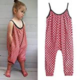 EGELEXY Toddler Kids Baby Girls Strap Romper Jumpsuit Harem Pant Trousers Clothes 2-8Y