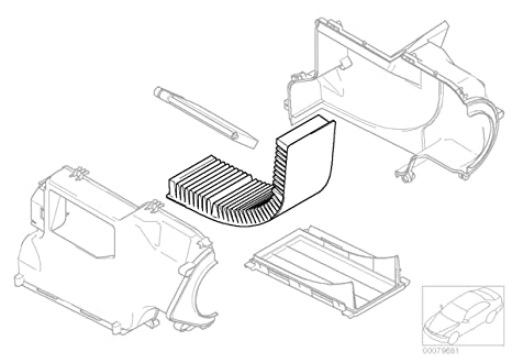 Amazon Com Mini Cooper Cabin Filter Charcoal Oem Gen1 R50 R52 R53