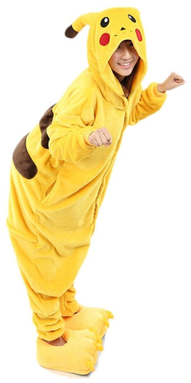 Frau Pokemon Pikachu Schlafanzug Erwachsene Anime Cosplay Halloween Kostüm Größe M S L XL