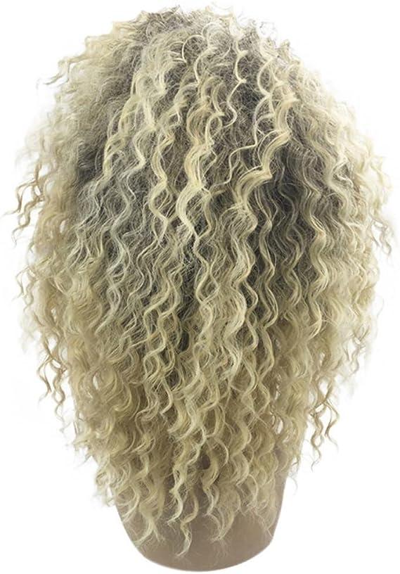 Logobeing Peluca de Mujer Pelo Natural Corta/Colores/Rubia/Largo Cabello, Ideal Cosplay Disfraz Peluca,Peluca rizada rizada rubia pelucas afroamericanas: Amazon.es: Belleza