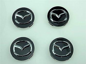 yongyong218 4 tapacubos centrales para Llantas DE 56 mm, Mazda 2, 3, 6