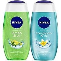 NIVEA Shower Gel, Lemon & Oil, 250ml and NIVEA Shower Gel, Frangipani & Oil, 250ml